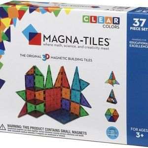 MAGNA-TILES 37 Piece Set CLEAR $60 NEW SEALED BOX